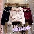 2016 новый Осень и Зима опрятный стиль матрос воротник сладкий женщины шерстяные короткие куртки молодая девушка вмс Японии бренд мило темно-синий пальто
