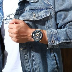 Image 5 - Curren 8329 mens watches 톱 브랜드 럭셔리 크로노 그래프 남성 시계 가죽 럭셔리 방수 스포츠 시계 남성 시계 남자 손목 시계