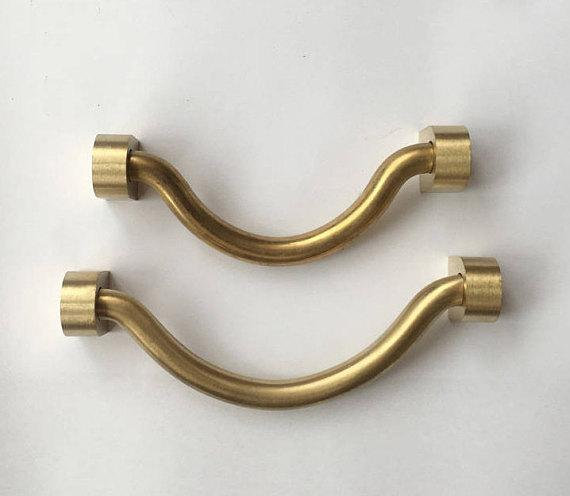 4'' 4 3/4'' Drawer Pulls Drop Bail Pull Brass Cabinet Handles Knobs Dresser Pulls Antique Kitchen Knob Handle Hardware 100 120mm vintage style door handle cabinet handles dresser pulls drawer pull handles knob antique brass rustic kitchen knobs large