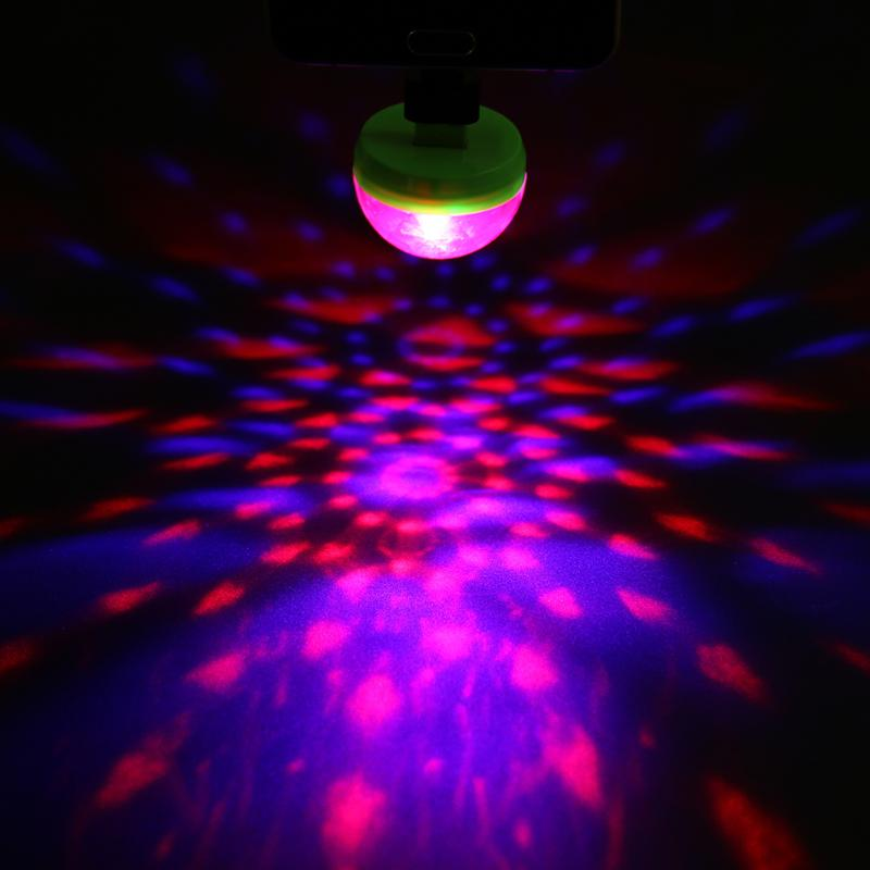 Mini USB Disco Light DMX RGB Stage Projector Holiday Party New Year's Product Christmas Decorations Wedding Party Lamp