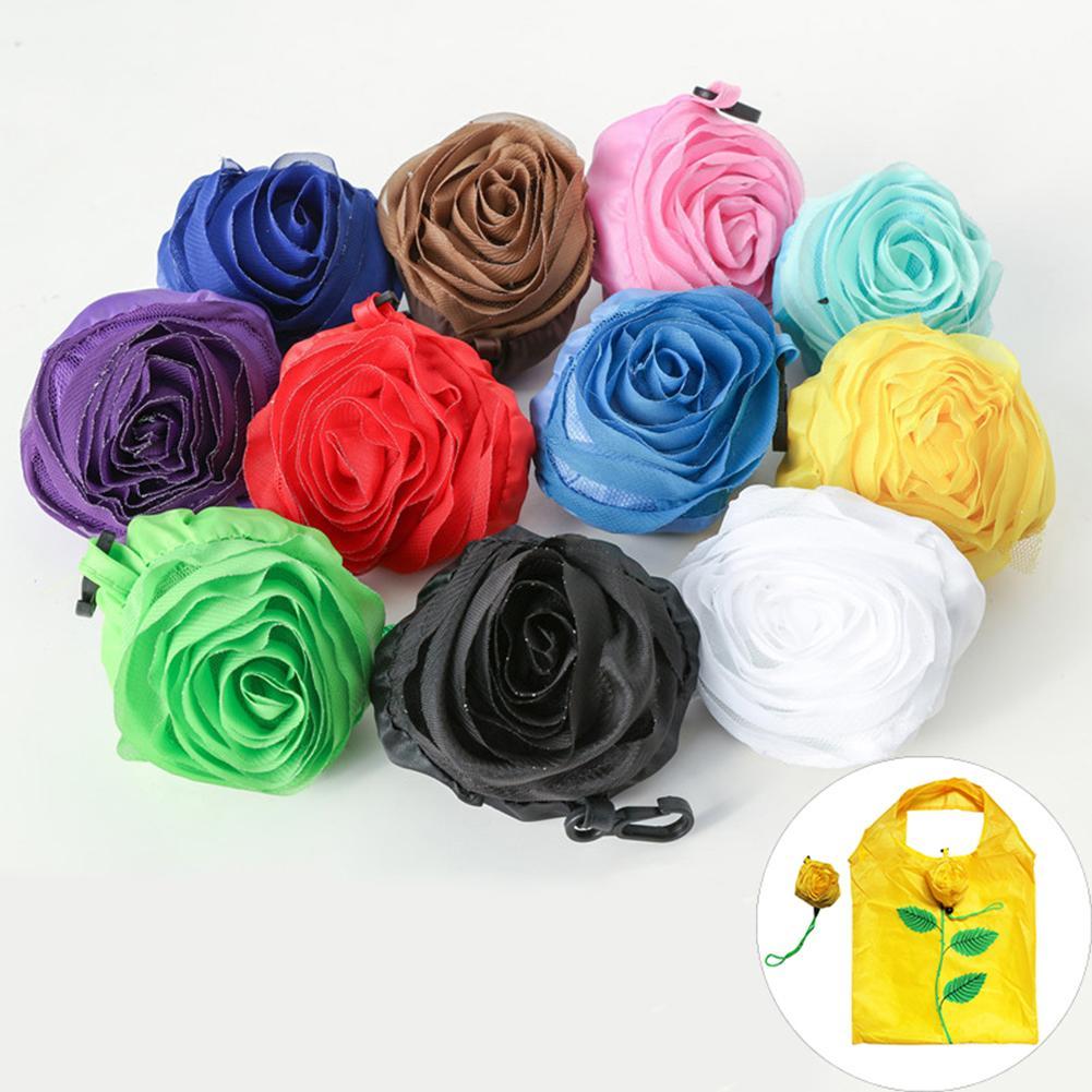 2019 Mode Rose Design Faltbare Tote Beutel Große Kapazität Lagerung Handtasche Einkaufstasche