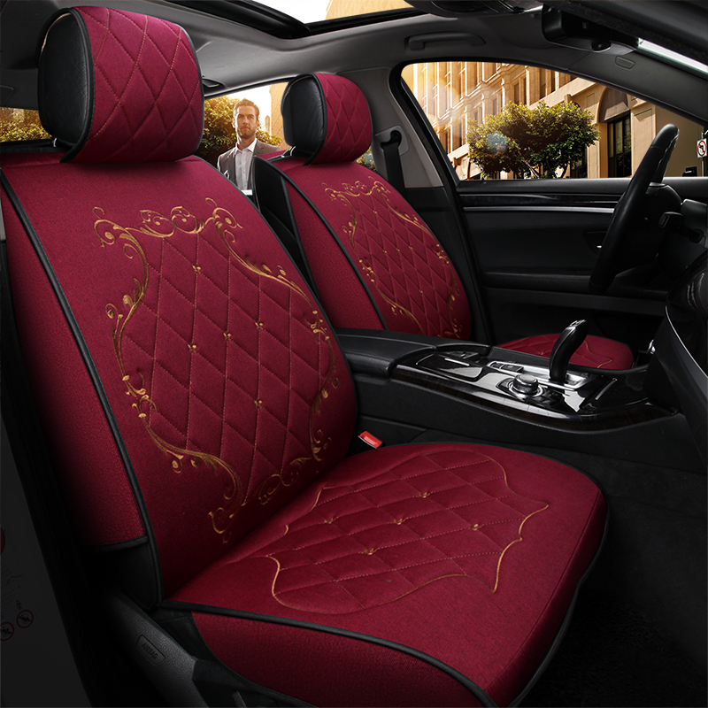 Universal Automobiles Seat Covers Breathable Linen Car