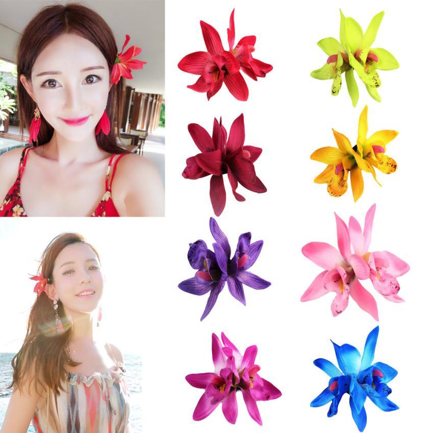 Ubeauty cute Store 1PC Women Hair Styling Butterfly Orchid Cloth Bohemia Headdress Beach Flowers Hair Clips 2U925