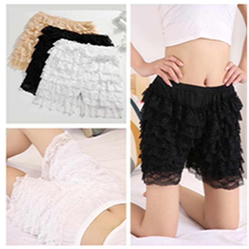 deft design incredible prices latest fashion US $9.06 20% OFF|Women Sexy Frilly Lace Ruffle Shorts Knickers Security  Panties Underpants Lace Cake Culottes Plus Size YLM9578-in Safety Short  Pants ...
