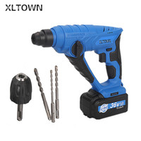 Xltown light hammer rechargeable lithium battery impact drill home power tools High capacity lithium battery impact drll