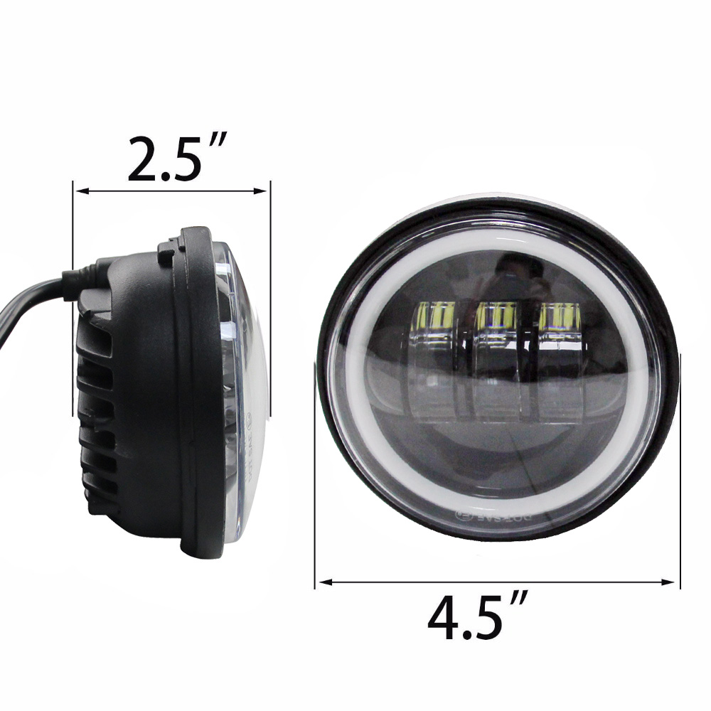 4 1 2 4 5 LED Fog Lamp Driving Passing Light for Motorcycle Touring Softail Road