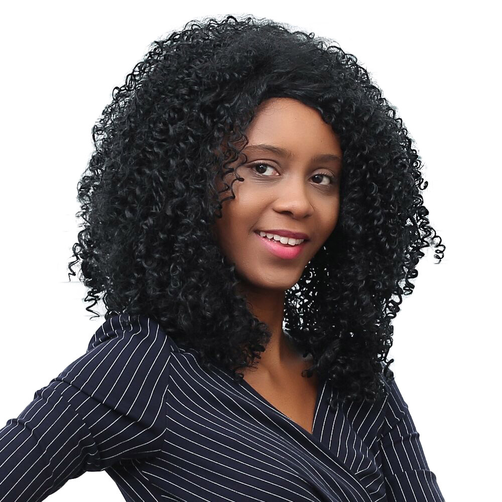 Shaggy Afro Curly wigs synthetic hair brazilian wigs front lace Fashion short body wave wigs front lace 6523A