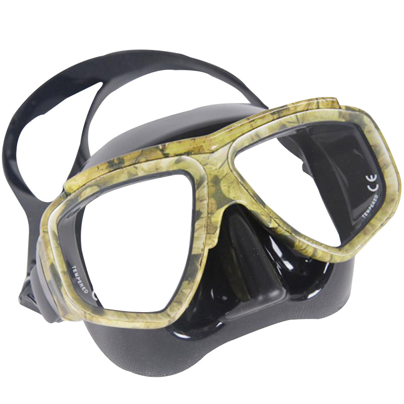 KEEP DIVING Professional Disguise Camouflage Scuba Dive Mask Snorkeling Gear Spearfishing Swim Goggles Myopic Optical Lens diving equipment