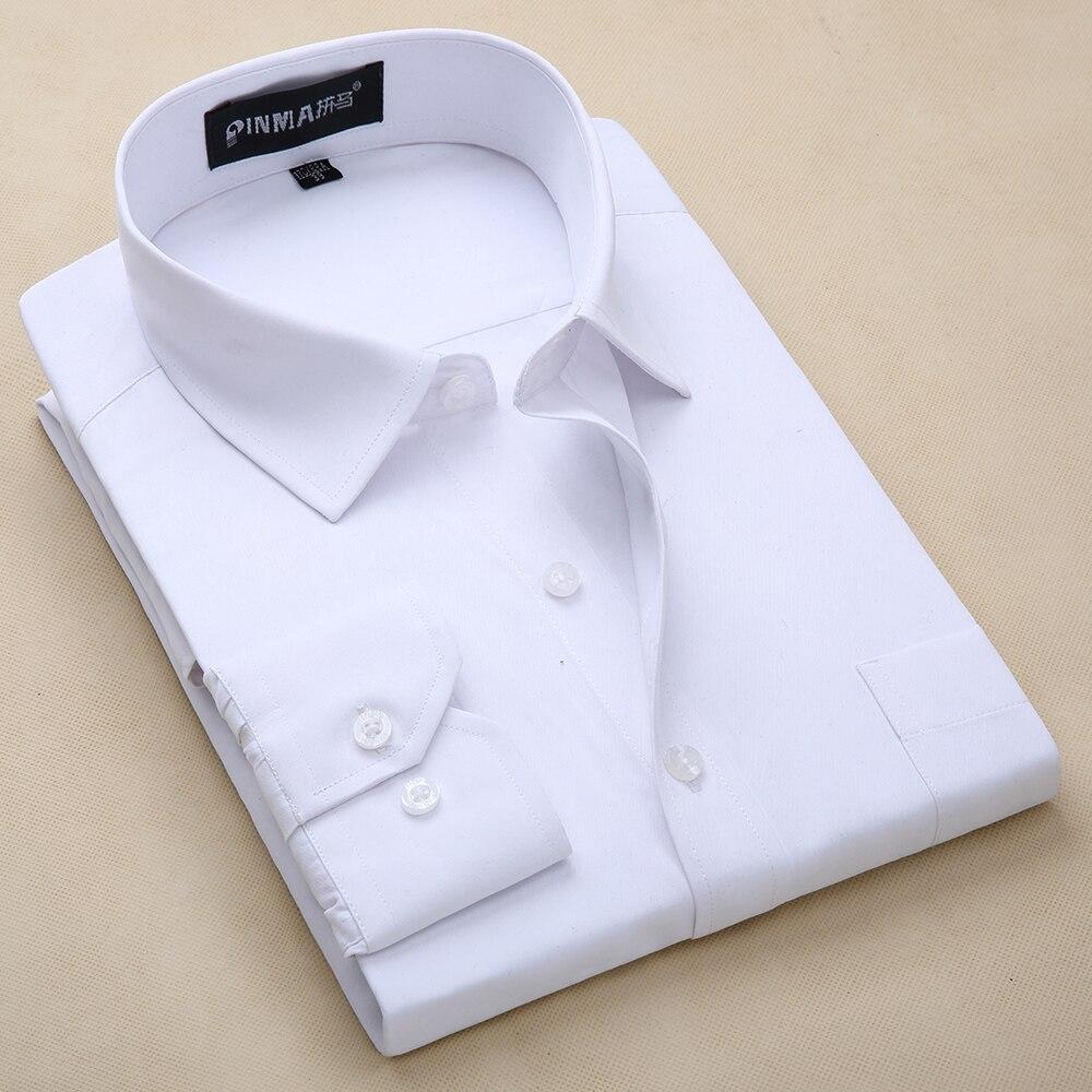 Diskret Männer Kleid Twill Shirts Formale Geschäfts Social Shirts Klassisches Design Plus Größe Langarm Nicht Eisen Shirts S-8xl Hemden Herrenbekleidung & Zubehör