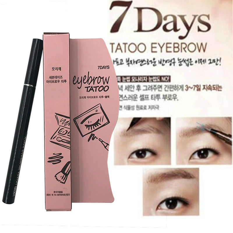 2018 New Eyebrow Enhancers Waterproof Pencil Women Makeup Product Brown 7 Days Eye Brow Eyebrow Tattoo Pen Liner Makeup Tools image