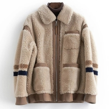 Thicken Winter Sheep Shearing Fur Jacket Women Clothes 2019 New Arrival Teddy Style Womens Real Fur Coat 100% Lamb Wool Jacket