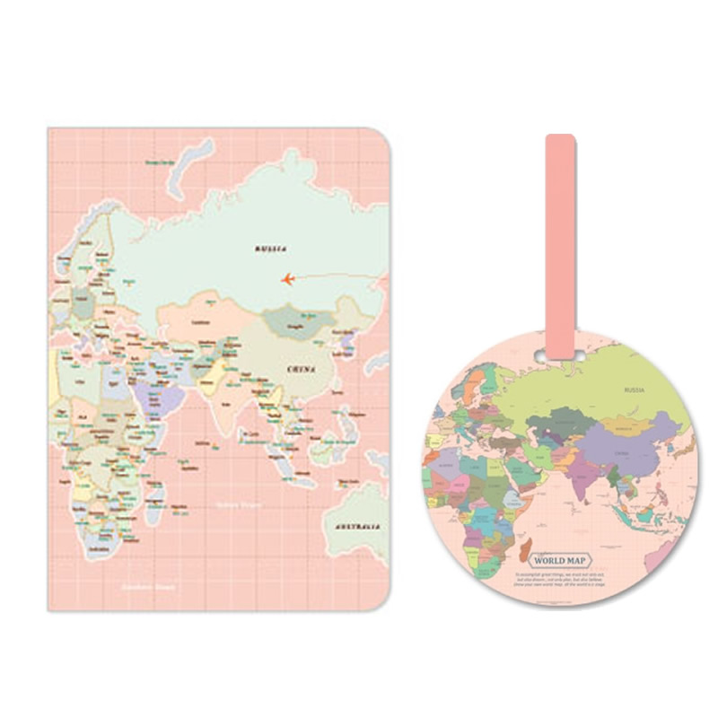 Nice 1 Pcs Novelty World Trip Map Travelling Passport Holder High Quality Pvc Leather Id Card Bag Passport Covers Passport Wallets Warm And Windproof Card & Id Holders
