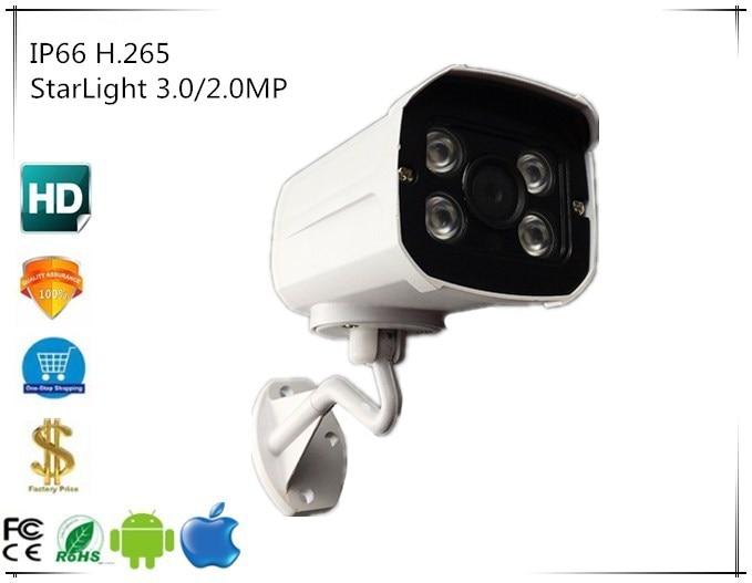 StarLight 3516E C Sony IMX291 3 0 2 0MP IP66 IP Bullet Camera Waterproof 1080P H