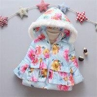 354794e97 BibiCola invierno Bebé niñas abrigos moda 2018 floral chaquetas con capucha  para bebé niños prendas de vestir exteriores toddle algodón parkas. BibiCola  ...