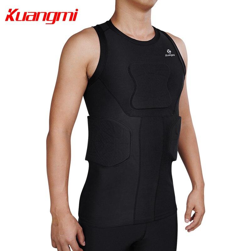 Kuangmi Uomini Palestra Abbigliamento Sportivo di Fitness di Compressione di Calzamaglie Abiti Corsa e Jogging Sport Da Jogging T Shirt e Pantaloni Set Vestiti - 5