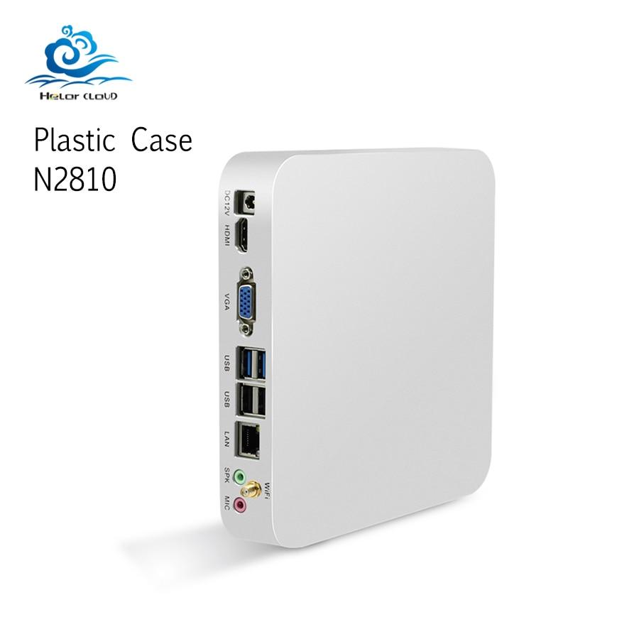Mini Compute Celeron N2810 Windows 7 Linux Mini PC Office Computer 4GB RAM Plastic Mini Tv Nettop Pocket Computer