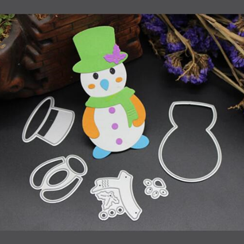 Metal Cutting Dies Snowman DIY Paper Card Embossing Decorate Etching Crafts