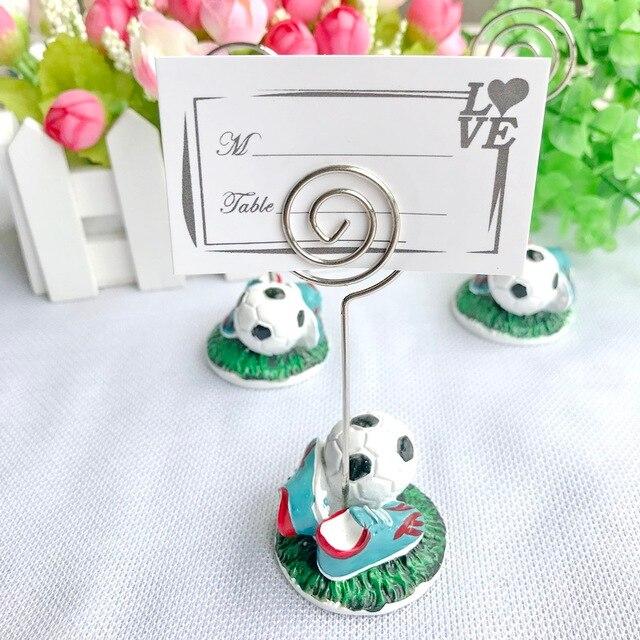10pcs Lot Free Shipping Sport Series Wedding Gift Football Design Place Card