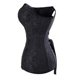 Image 4 - Womens Steampunk Steel Boned Overbust Long Torso Hourglass Corset Bustier Waist Cincher Corselet Shapewear Plus Size S 6XL