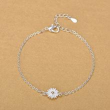 Женский браслет из серебра 925 пробы с подсолнухом
