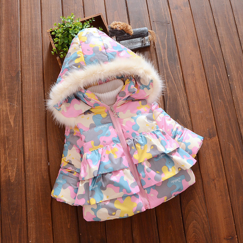 Meisjes Winterjas Warm Thick Infant Down Jackets Toddler Girls Winter Coat Hooded Baby Clothes Cotton Infant Coats &Outerwear