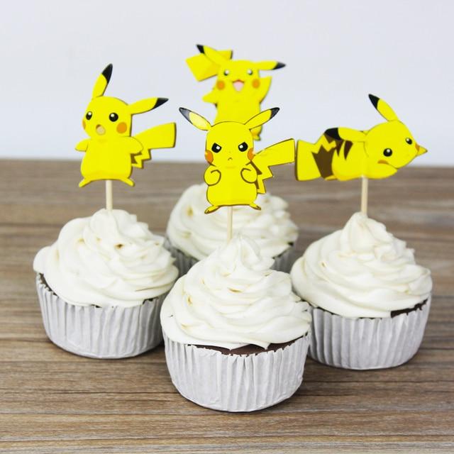 24 Stucke Pokemon Gehen Pikachu Toppers Picks Baby Dusche Liefert