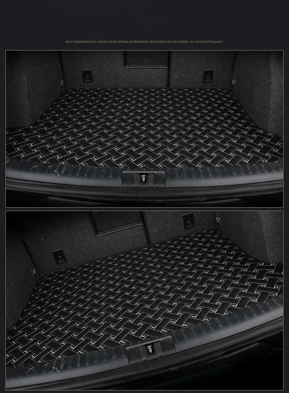 Custom special car trunk mats for Renault Duster Fluence Kangoo Koleos Magane Scenic waterproof durable cargo rugs carpets custom fit car trunk mats for hummer h3 h2 2008 2017 boot liner rear trunk cargo tray floor mats