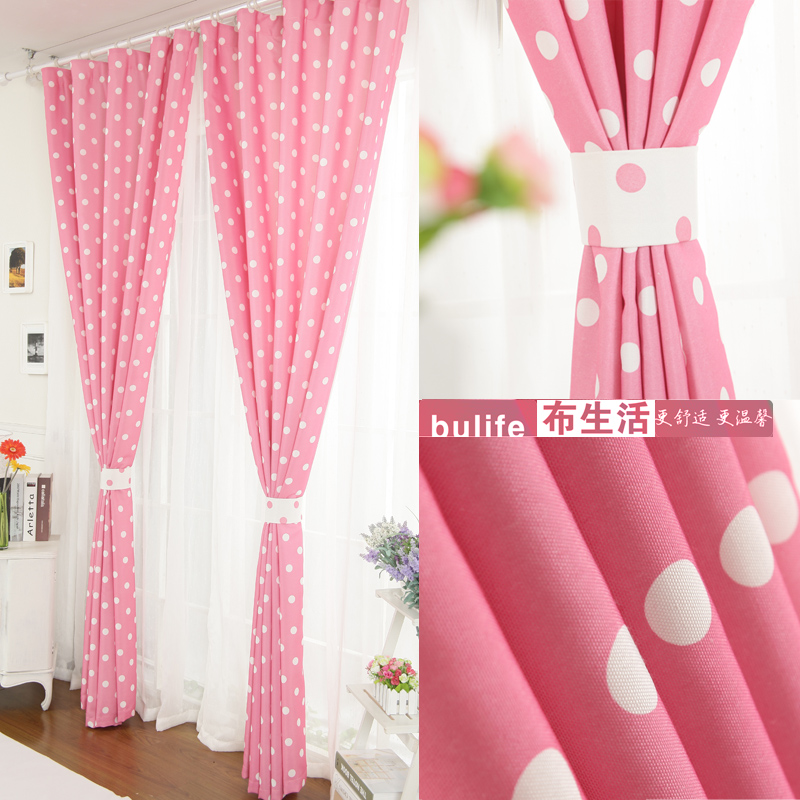 Delicieux Curtain Finished Product Rustic Pink Small Fresh Polka Dot Girl Princess  Piaochuang Child Real One Meter Means 100cm*260cm In Curtains From Home U0026  Garden On ...