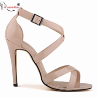 New Style Sexy Women Fashion Rome Style Women Sandals Cover Heels Platform High Heels Size35 42