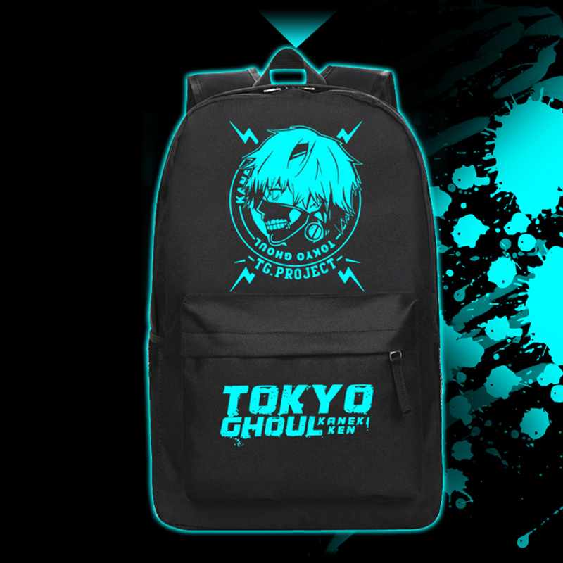 Hight Quality Cartoon Tokyo Ghoul Backpack Ken Kaneki Luminous School Bag for Teenagers Travel Bags Daypack new tokyo ghoul kaneki ken messenger bag anime school bags for teenagers children boys grils 3d cartoon shoulder bags