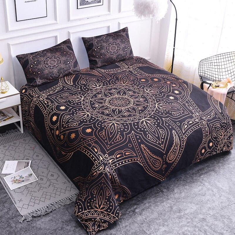 ZEIMON Bronzing Mandala 3D Bedding Sets Duvet Cover Queen/king Size Bohemian Luxury Comforter Bedclothes Home Decoration