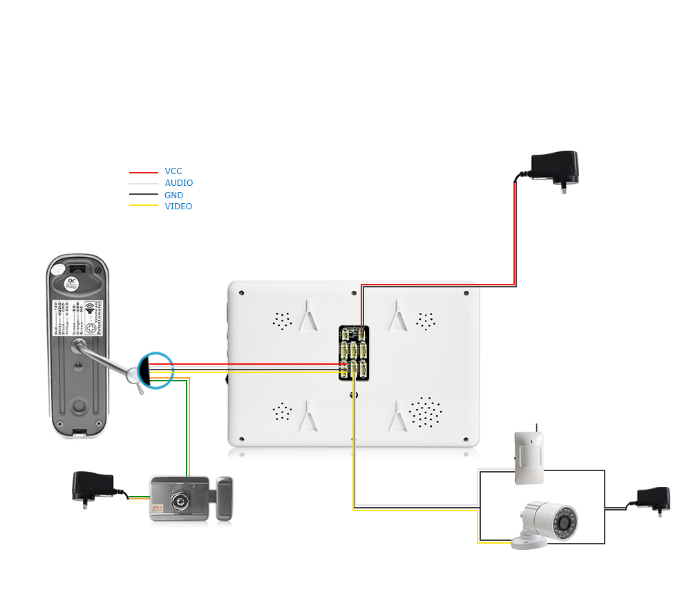 hight resolution of 7 video doorphone intercom systems on door speakerphone pin hole camera home security video door phone kit door entry system in video intercom from