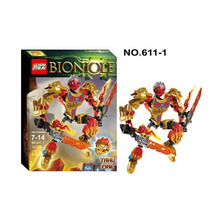 XSZ 611-1 Biochemical Warrior BionicleMask of Light Bionicle Tahu Fire Bricks Building Block Minifigure Compatible with Legoe