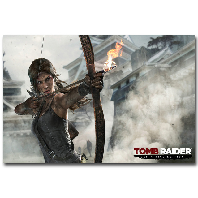 Lara Croft Rise Of The Tomb Raider Art Silk Fabric Poster Print