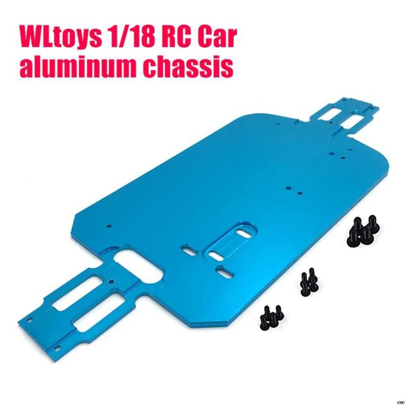 1/18 RC Auto blauw 4WD Auto Chassis Carbon Onderdelen Chassis Voor WLtoys A949 A959-B A969 A979 K929 RC auto accessoires