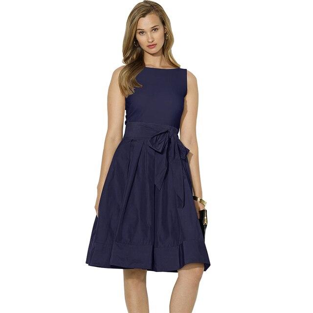 online store cf5c9 4676d US $28.42 |Berydress Retro Estate Abiti Abbigliamento Donna Elegante Audrey  Hepburn Abito Nero Vestido De festa Navy Blu Vestiti Da Partito 2017 in ...