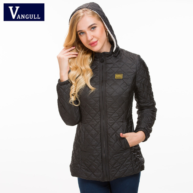 Vangull Winter Jacket Women Thick Warm Hooded Parka 2018 New Slim Down cotton clothing Long sleeve Coat Female Autumn Outerwear 3