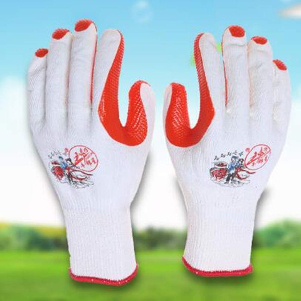12 Pair Cowboy Star Cotton Gloves Padded Protective Wear-resistant Anti-skid Line Gloves Labor Insurance Gloves Film Gloves strong 0 35mmpb medical x ray protective gloves ray workplace use gloves lead rubber gloves