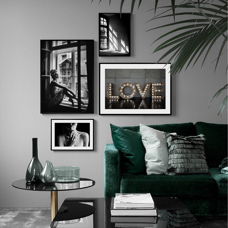 Poster Nordic Black And White Posters And Prints Decorative Picture Vintage Wall Painting Wall Art Canvas Painting Unframed in Painting Calligraphy from Home Garden