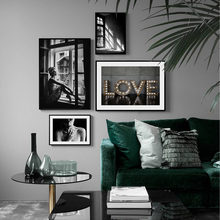 Poster Nordic Black And White Posters And Prints Decorative Picture Vintage Wall Painting Wall Art Canvas Painting Unframed(China)