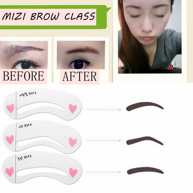 24pcs Eyebrow Stencils 24 Styles Reusable Eyebrow Drawing Guide Card