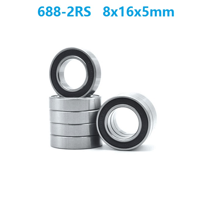 100pcs/lot 688RS <font><b>688</b></font>-<font><b>2RS</b></font> <font><b>688</b></font> RS <font><b>2RS</b></font> ball <font><b>bearing</b></font> 8x16x5 mm deep groove ball <font><b>bearings</b></font> Miniature Mini <font><b>bearing</b></font> 8*16*5 image