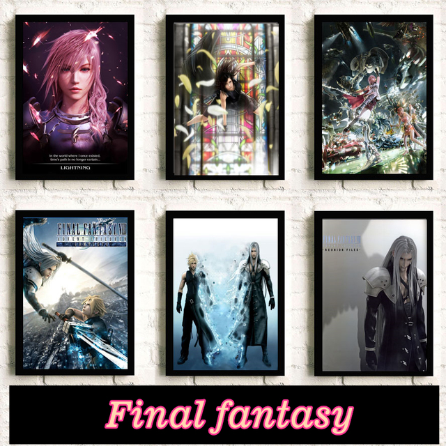 Final Fantasy Game Poster Wall Pictures For Bedroom Living Room Decor Room decoration Painting posters canvas painting K136