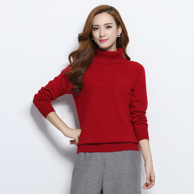 7d18d0dc05f Women s Sweater 100% Cashmere Knit Pullover New Fashion Turtleneck Warm  Skirts Hot Sale Regular Sleeve Clothes Standard Tops