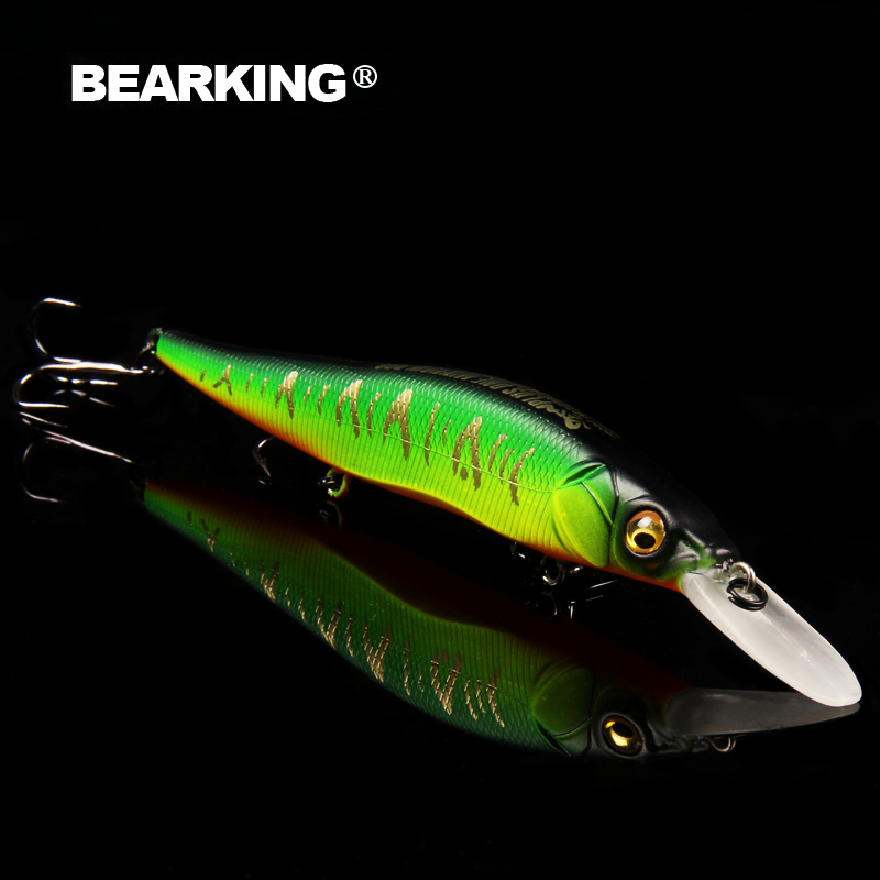 Bearking excellent action A+ fishing lures, assorted colors, minnow crank 110mm 14g,Tungsten ball 2017 hot model crank bait