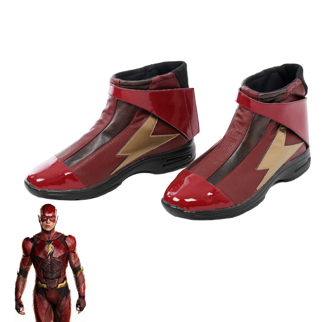 Justice League Flash Shoes Cosplay Accessories Halloween Cosplay Men