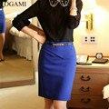 Lapis Mujeres Bodycon lápiz Faldas Para Mujer de Cintura Alta Saia Falda 2016 Midi Faldas Mujer Saias Jupe Femme Etek Crayón Negro Lapis