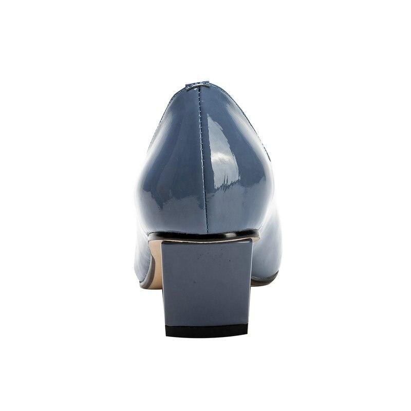 Di A Cuoio Alta Pompe Tacco Punta colore Stile Dimensioni Delle Signore Scarpe 3 8 Donna Solido Vernice Blu Giallo 2019 Quadrato Eshtonshero Da Sposa Dell'annata qxXYP8twP