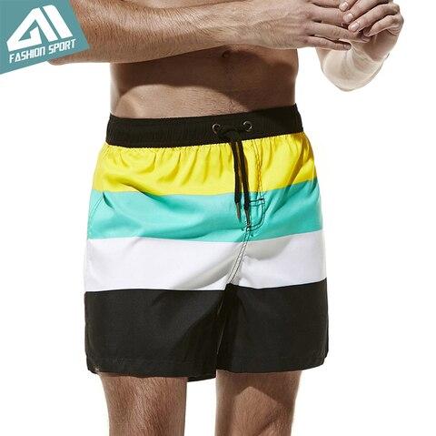 Calções de Bordo dos Homens Shorts para Homem Troncos de Natação Nova Secagem Rápida Verão Férias Praia Surf Esporte Correndo Masculino Am2057