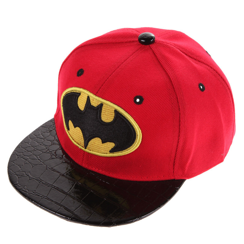Batman Kid's Snapback Cap - Red